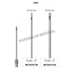 Canules de liposuccion: cou, 15 cm, Luer Lock
