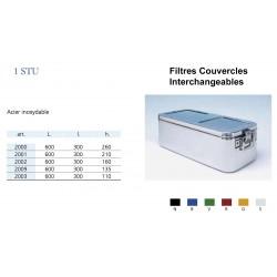 Conteneurs Filtres Couvercles Interchangeables Taille 1 en acier inox
