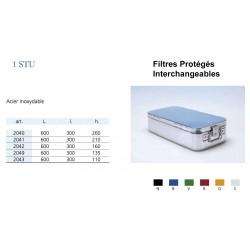 Conteneurs Filtres Protégés Interchangeables Taille 1, acier inox