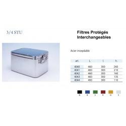 Conteneurs Filtres Protégés Interchangeables Taille 3/4, acier inox