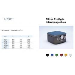 Conteneurs Filtres Protégés Interchangeables Taille 1/2, alu anodisé dur