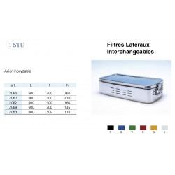 Conteneurs Filtres Latéraux Interchangeables Taille 1, acier inox