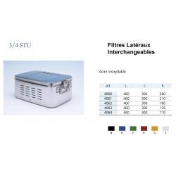 Conteneurs Filtres Latéraux Interchangeables Taille 3/4, acier inox