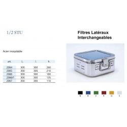 Conteneurs Filtres Latéraux Interchangeables Taille 1/2, acier inox