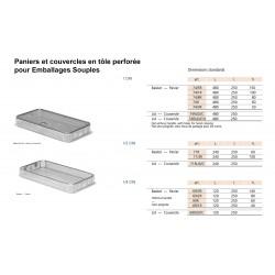 Paniers en tôle perforée pour Emballages Souples dimensions standards