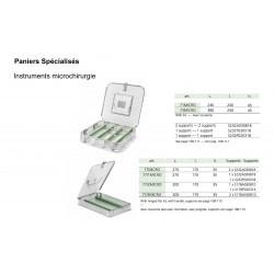 Paniers de stérilisation pour microchirurgie, sans tapis silicone