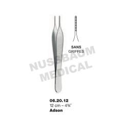 Pince à Dissection Adson 12 cm Sans Griffes pour chirurgie plastique
