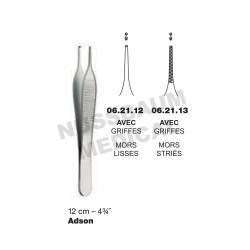 Pince à Dissection Adson 12 cm Avec Griffes pour chirurgie plastique