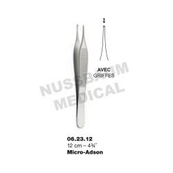 Pince à Dissection Micro-Adson 12 cm Avec Griffes pour chirurgie plastique