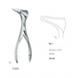 Spéculum Cottle longueur 13,5 cm - figure 1 - lames de 35mm