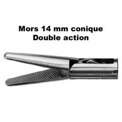 Inserts préhension Mors 14 mm conique, double action