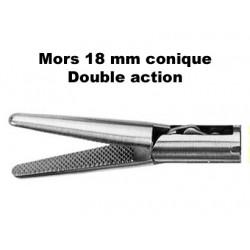 Inserts préhension, Mors 18 mm conique, double action