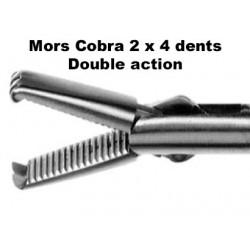 Inserts préhension, Mors Cobra 2 x 4 dents, double action