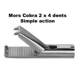 Inserts préhension, Mors Cobra 2 x 4 dents, simple action