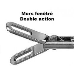 Inserts préhension, Mors fenêtré, double action