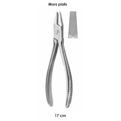 Pince tire-broches 17 cm mors plats